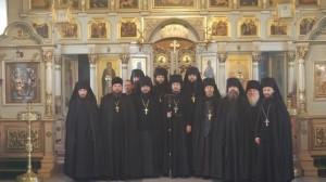 Братия Чуфаровского монастыря 2010