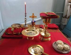 жертвенник во время проскомидии